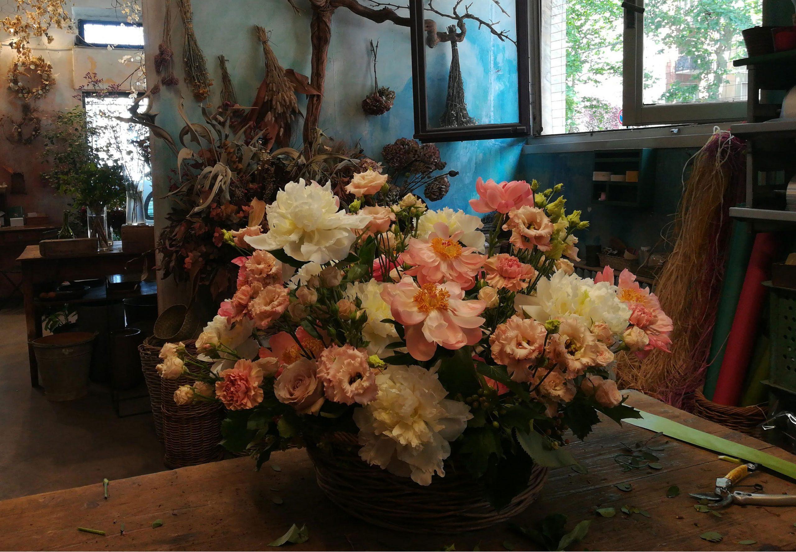 composizione di fiori per funerale