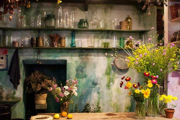 Retro del negozio di piante e fiori Bollettini a Milano